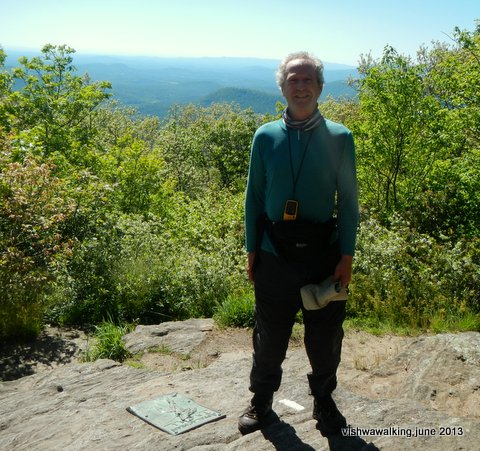 Peter atop Springer Mountain, May 24, 5;30 p.m.