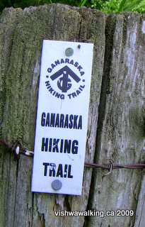 Ganaraska Trail, sign at sylven Glen