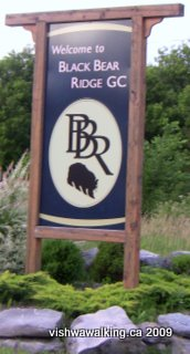 aGrand Junction Railway, sign t back entrance to Black Bear Ridge Golf Club