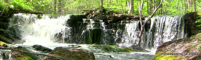 hastings Heritage Trail, waterfall north of Marmora Station