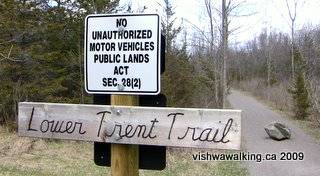 Lower Trent Trail sign, north of Frankford