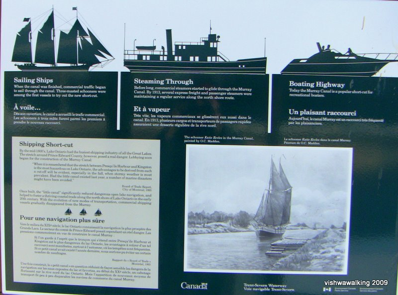 murray canal, info board 2