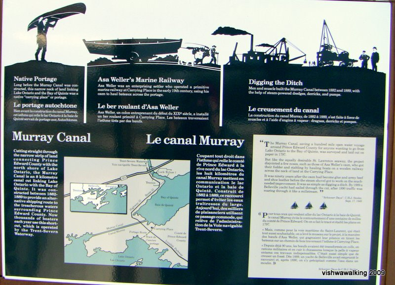 murray canal, information board #1