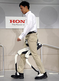 bionic leg apparatus from Honda