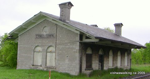 Ernestown train station, front