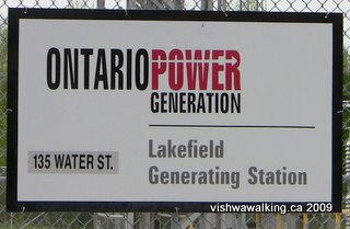 Lakefield, Ontario Power Generation sign