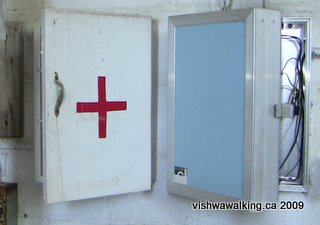 Prince Edward Heights, furnace room 1st aid box
