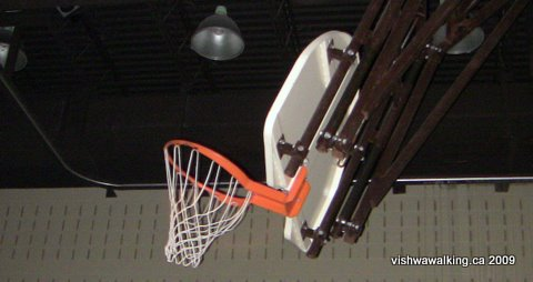 Prince Edward Heights, basketball net in gym