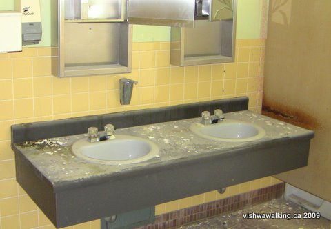 Prince Edward Heights, washroom sinks