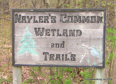 Marmora, Naylor's Commons sign
