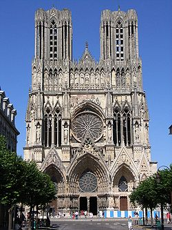 cathedral of nortre dame, reims, france