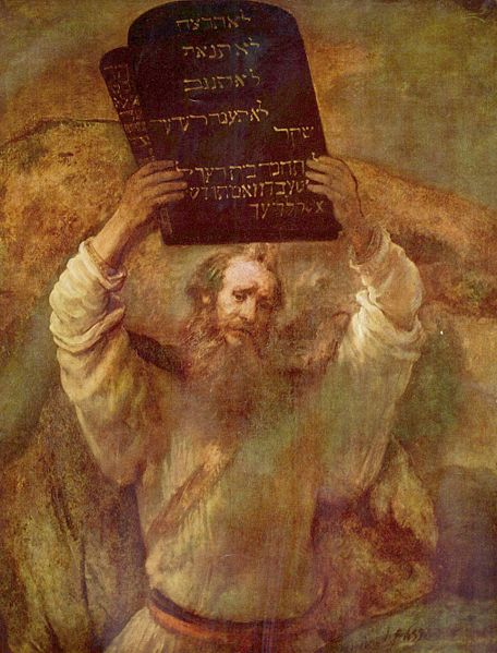 rembrandt's version of moses breaking the tablets