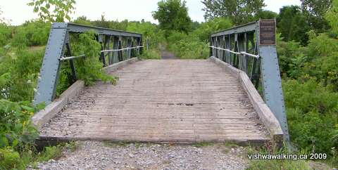 Trans Canada trail, 1st bridge east of campbellford