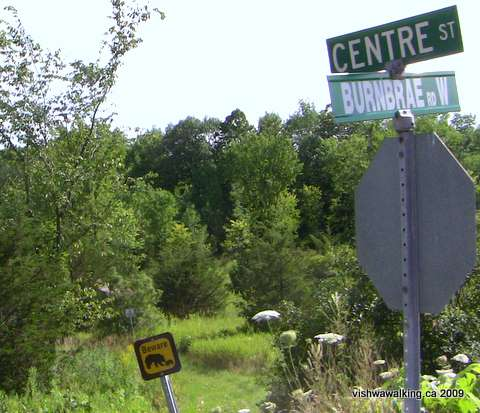 Trans Canada Trail, Centre and Burnbrae, start of trail through Ferris Park.