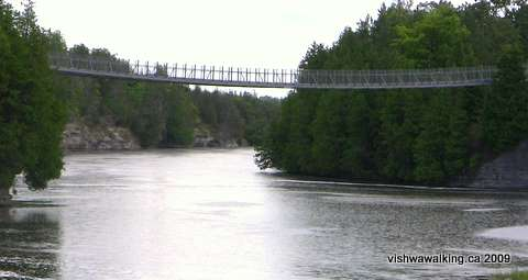 Trans Canada trail, Ranney Suspension Bridge over the Trent River, Campbellford