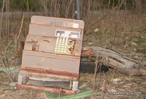 transcan, kilometre 68 east of Kaladar, cash register